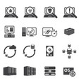 big data icons set software development vector image