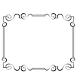 black frame on a white background vector image vector image