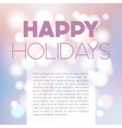 Blurred bokeh postcard vector image