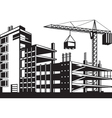 Building in various stages of construction vector image vector image