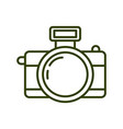 camera icon isolated on white background from vector image