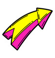 cartoon arrow urban colorful vector image