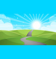 cartoon landscape - road vector image