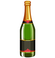 Champagne bottle with lid on vector image vector image