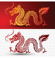 Chinese dragon vector image vector image