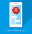 Christmas greeting card Thin line icons on the vector image