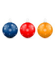christmas holiday balls isolated on a white vector image