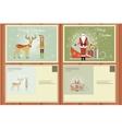 Christmas Set of a Postcards vector image