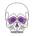 continuous line skull icon vector image vector image