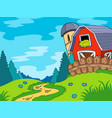 country landscape with barn vector image