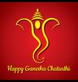 creative ganesh chaturthi festival greeting card b vector image vector image