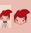 cute wedding boyfriend cartoon vector image