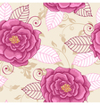 Decorative seamless pattern with pink roses vector image