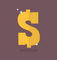 dollar icon sign vector image vector image