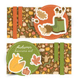 fall horizontal banners set vector image vector image