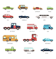 Flat Collection Of Different Car Models vector image vector image