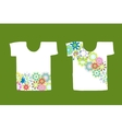Floral design on white t-shirt vector image