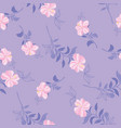 floral pattern in doodle style with flowers and vector image