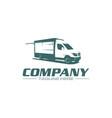 food truck logo vector image vector image