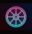 glowing neon line old wooden wheel icon isolated vector image vector image
