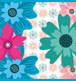 green blue pink flower ornate decoration floral vector image