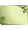 green card with grapes vector image