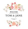 hand-drawn botanical wedding invitation card vector image vector image