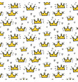 hand drawn crown pattern background vector image vector image