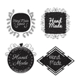 hand made labels monochrome icon vector image vector image