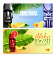 hawaiian party horizontal banners vector image vector image