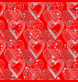 hearts abstract pattern vector image