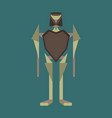 icon in flat design toy robot vector image vector image