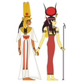 Isolated figure of ancient egypt god vector image vector image