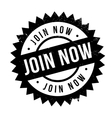 Join now stamp vector image vector image