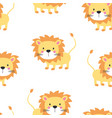 lion seamless pattern vector image