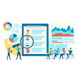 meeting personnel consideration summary vector image vector image