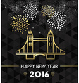 New Year 2016 london uk tower bridge travel gold vector image vector image