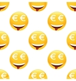 Obsessed by money emoticon pattern vector image vector image