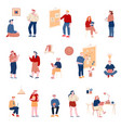 office workers set business people communicate at vector image