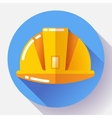 Orange construction worker helmet icon Flat vector image vector image