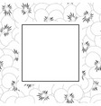 pansy flower outline banner card vector image vector image