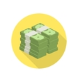 Pile of money icon vector image vector image