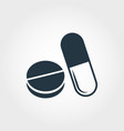 pills icon line style icon design pills icon vector image vector image