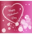 Pink Valentine Day Postcard vector image vector image