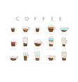 poster coffee flat cups vector image