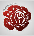 rose red abstract tribal tattoo decorative vector image
