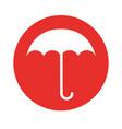 round icon umbrella cartoon vector image vector image