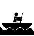rowing sport icon vector image vector image