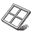 sash glazing is technically vintage engraving vector image vector image