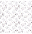 seamless pattern with blooming elements purple vector image